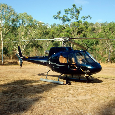 Helicopter tours of the island